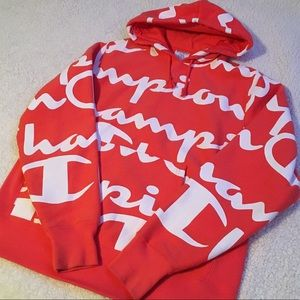 Champion All Over Print Reverse Weave Hoodie